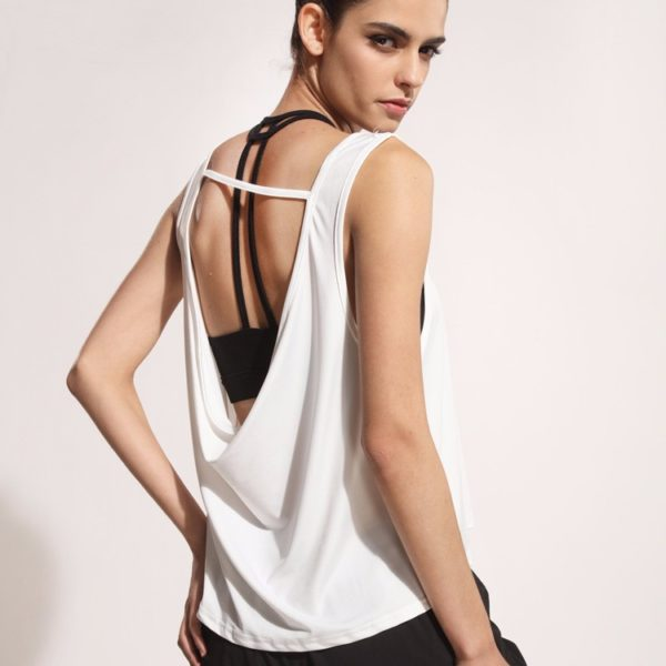 Charming Sleeveless Yoga Back with Hollowed Out Back02