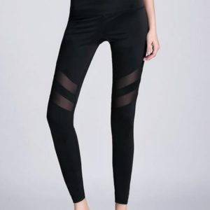 Fashionable Mesh Yoga Leggings01