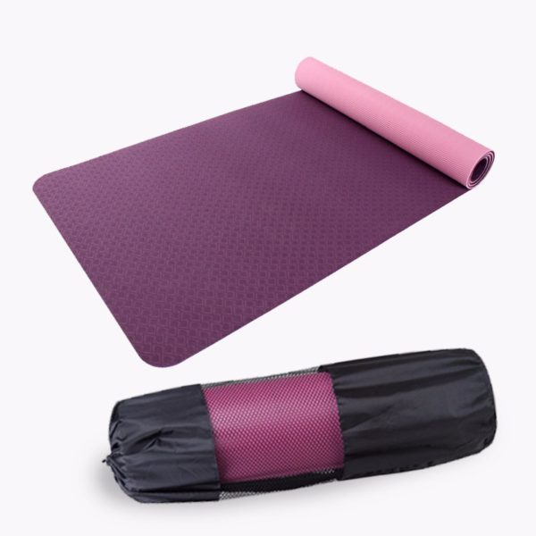 Single Layer Yoga Mat With Bag And Rope02