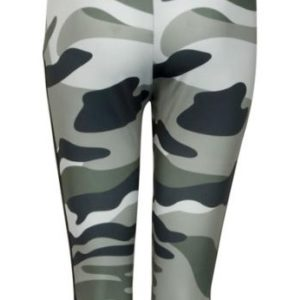 Trendy Camo Yoga Leggings with Mesh Panels01