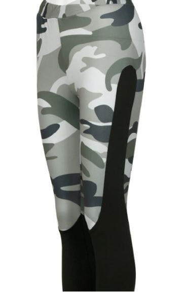 Trendy Camo Yoga Leggings with Mesh Panels02