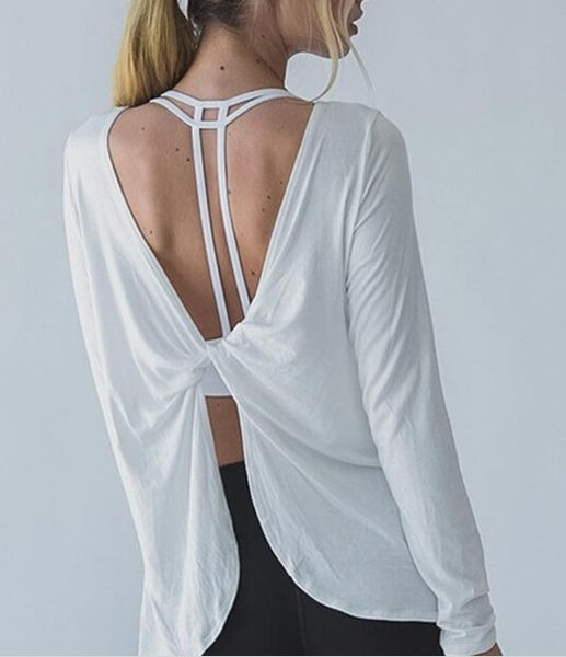 Trendy Long Sleeved Yoga Top03