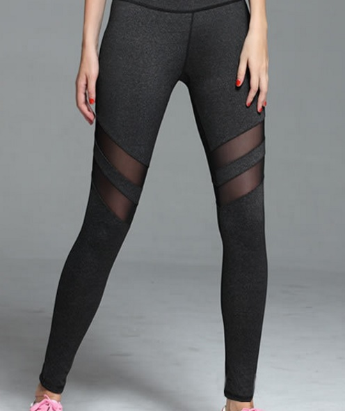 mesh yoga pants fashionable mesh 10780